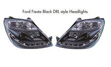 Ford Fiesta Mk6 Mk6.5 02-08 All models Black Projector R8 Style headlights