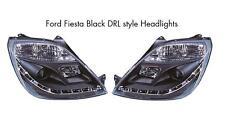 Ford fiesta Mk6 Mk6.5 02-08 Todos Los Modelos Negro Proyector R8 Faros De Estilo