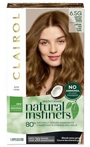 Clairol Natural Instincts Demi-Permanent Hair Color Lightest Golden Brown [6.5G]