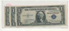 3 1935a $1 blue seal notes cu consecutive #