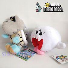 2X Nintendo Super Mario Bros. Plush Dry Bones Skeleton Koopa Boo Soft Toy Doll