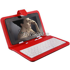"RED protective Case cover w/ micro USB + keyboard for 7"" andriod PDA Tablet PC"