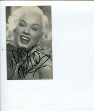 Mamie Van Doren Teacher's Pet Sex Kittens Go to College Signed Autograph Photo
