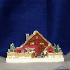 Radko SPARKLE TOWN Shiney Brite Putz Miniature RED House RARE Retired NEW VALUE