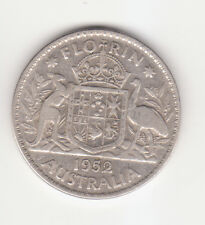 1952 Australian Silver 2/- TWO Shilling Florin KING GEORGE VI  (very Nice)