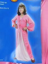 Princess Gown & Tiara Girl's Halloween Dress-Up Costume Pink 8-10 Medium #6923