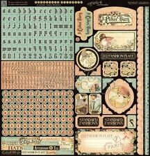"GRAPHIC 45 ""A LADIES DIARY"" 12X12 ALPHABET & ELEMENT STICKER SHEET SCRAPJACK'S"