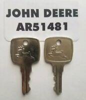 (2) John Deere Original Equipment Keys #AR51481,  2 Keys , FAST FREE SHIPPING