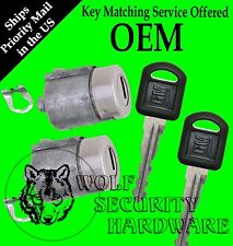 GMC Yukon Suburban 95-99 OEM Pair of Two Front Door Key Lock Cylinders 2 Keys
