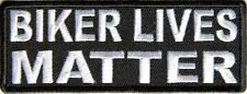 BIKER LIVES MATTER - IRON or SEW ON PATCH