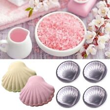 4Pcs Shell Shaped Bath Bomb Molds Aluminum Alloy DIY Bathing Tool Access TOP