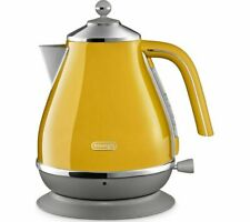 DELONGHI Icona Jug Kettle Yellow Kitchen Space New
