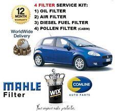 FOR FIAT GRANDE PUNTO 1.3TD JTD 2005-> SERVICE KIT OIL AIR FUEL POLLEN FILTER
