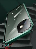 Metall Gehärtetes Glas 360-Grad Schutzhülle Case Cover für iPhone 12 11 Pro Max
