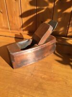 Vintage Wooden Coffin Plane - Block Bench Plane - with S. ASHTON Blade