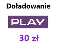 Doładowanie 30 zł - PLAY - Zasilenie Konta - TANIO !!