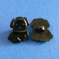 20 Dog Pet Kid Novelty Scrapbooking Craft Sew On Buttons Dress It Up Black K376