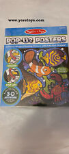 Melissa and Doug Pop-Up Posters Animals Color 3-D Artwork Complete Misb