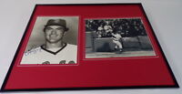 Fred Lynn Signed Framed 16x20 Photo Display Red Sox