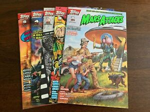 Mars Attacks #1 - 5 (1994, Topps) SET OF 5! VFs or better! Dual covers