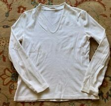 Women's white long sleeved top, Talbots, Petite Small, 100% Cotton