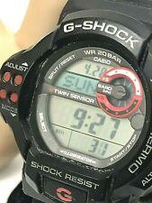 Casio 3255 G-Shock GDF100 Men's Watch Black Resin Twin Sensor Digital Sport