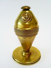 LOVELY WW2 VINTAGE BRITISH MILITARY ROYAL NAVY TRENCH ART BRASS TABLE LIGHTER
