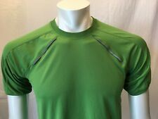 Mountain Equipment Co-Op Green Athletic Short Sleeve Fitness Shirt Size Small