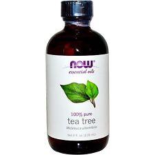 NOW Foods 100% Pure TEA TREE OIL - 4 oz (118 ml) Melaleuca NATURAL ANTISEPTIC
