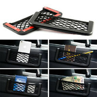 Car Auto Storage Mesh String Bag Resilient Pouch Organizer For Cellphone Gadget