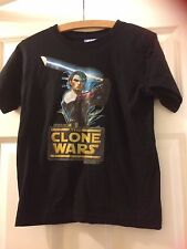 """new Star Wars,black T.shirt with picture,Clone star wars,age 10 approx 32""""byTU."""