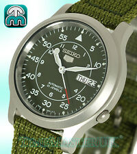 SEIKO 5 AUTOMATIC MILITARY STYLE  DARK GREEN FACE MODEL SNK805K2 SNK805