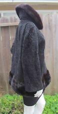 Black Swakara Persian Lamb Broadtail Breitschwanz Karakul VNTG Jacket Coat Sz M