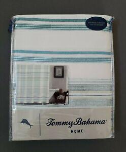 Tommy Bahama La Scala Breezer Green Cotton 72in X 72in. Shower Curtain