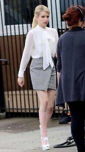 "Emma Roberts Authentic Screen Worn ""Scream Queens"" Skirt W/COA."