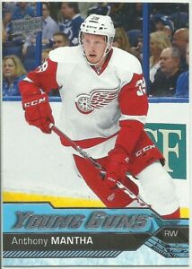 2016-17 UPPER DECK SERIES 1 ANTHONY MANTHA RC ROOKIE YOUNG GUNS #213 RED WINGS