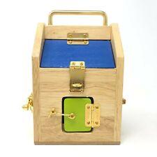 Wooden Montessori Wood House Little Lock Latch Box Kids Educational Toys