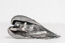 Ernst Fuchs - Schutzengel - silber - Skulptur, Metallguss, versilbert - signiert