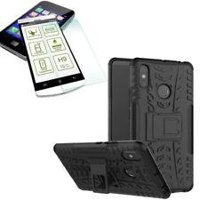 For Xiaomi Redmi Note 6 pro Hybrid Case Outdoor 2 Pieces Black +H9 Glass New