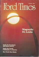 Ford Times October 1981 President Reagan Jelly Beans St Louis News 81 Jim Greek