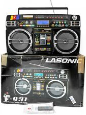 LASONIC PORTABLE BOOMBOX i931 VINTAGE STYLE GHETTO BLASTER (Powered Up & Tested)