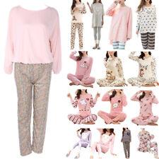 2pc Womens Long Sleeve Pajamas Cartoon Print Sleepwear Home Clothing Autumn Set