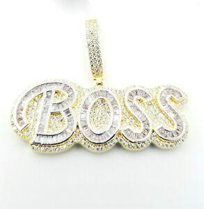 Fancy ICY Baguette Boss AAA Designer Pendent Vs Crystal Handmade Premium Quality