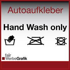Aufkleber/ Sticker / Dekor / Hand Wash only / #095