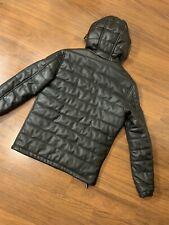 Zara Man Hoodie Leather zippier Jacket Men. Size M