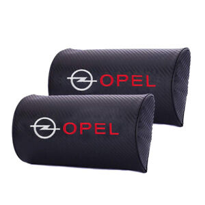 2x Carbon Fiber For OPEL Car Seat Pillow Support Head Neck Rest Support Cushion
