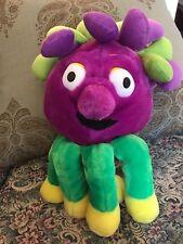 "HTF Hi-5 High Five purple green 18"" Hand Puppet Plush Stuffed Toy Very Rare"
