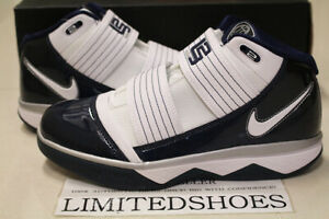 NIKE ZOOM SOLDIER III 3 TB WHITE MIDNIGHT NAVY 367183-115 LEBRON US 8 SIZE