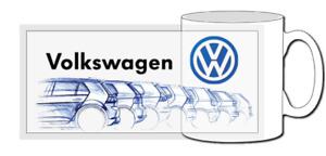 vw golf GTI mug, Classic Car, mk1, mk2, mk3, mk4, mk5, R, TDI, Tsi, Evolution