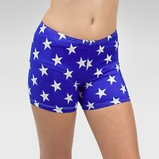 """Patriotic"" shorts size Small(4-6 years) child, blue/white stars print fabric"